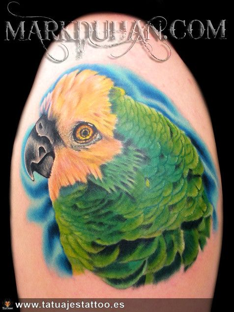 tatuaje de loro, tattoo de loro