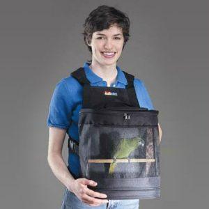 mochila para llevar loros, aves y transportadora de pajaros