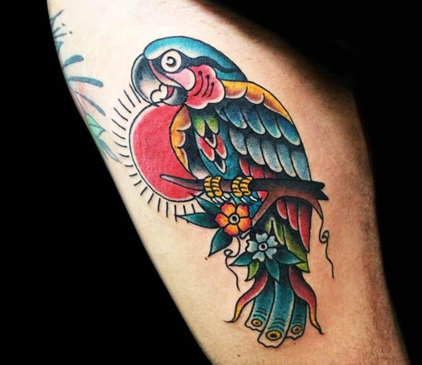 tatuaje de loro, tatuaje de loros