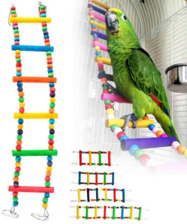 escaleras multifuncionales para loros, juguetes escaleras para entretenimiento de tu loro mascota